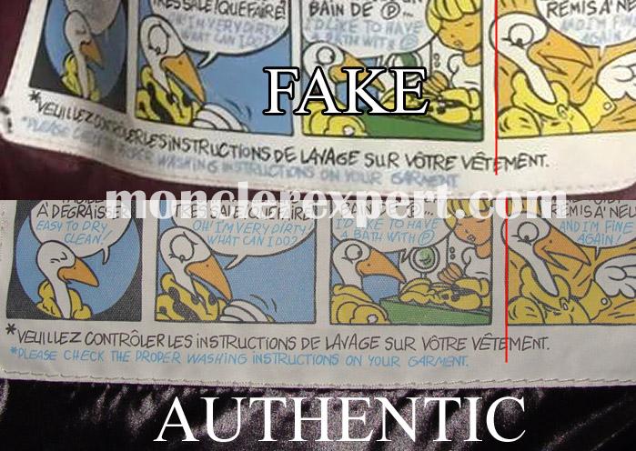 Moncler Expert Details of the cartoon