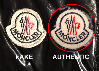 moncler fake and real